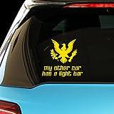 MY OTHER CAR HAS A LIGHT BAR Police Cop Car Laptop Wall Sticker