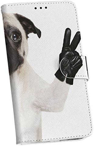 igcase Galaxy A20 SC-02M SCV46 専用 ケース カバー 手帳 AU DOCOMO UQ スマコレ 手帳型 レザー 手帳タイプ 革 sc02m スマホケース スマホカバー 006895 ユニーク アニマル 動物 犬 写真