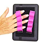 LAZY-HANDS 4-Loop Grips (x2 Grips) for e-Readers - FITS MOST (Pink)