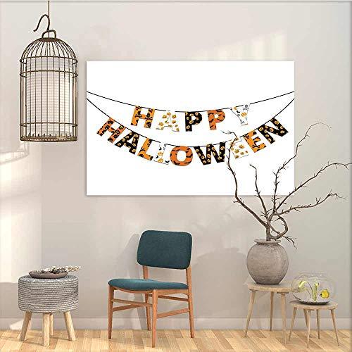 Oncegod Canvas Wall Art Sticker Murals Halloween Happy