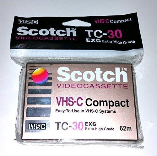 Scotch TC-30 EXG Extra High Grade VHS-C Compact Videocassette