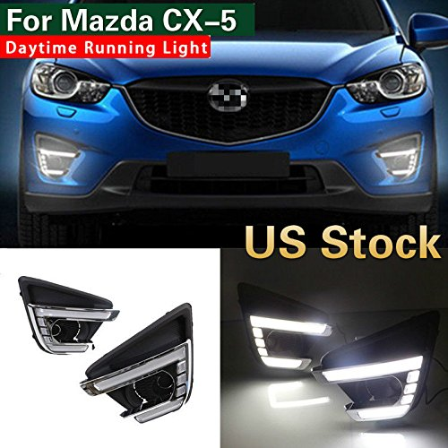 MotorFansClub LED Daytime Running Light for Mazda CX-5 DRL Fog Driving Lights Lamp 2012-2016