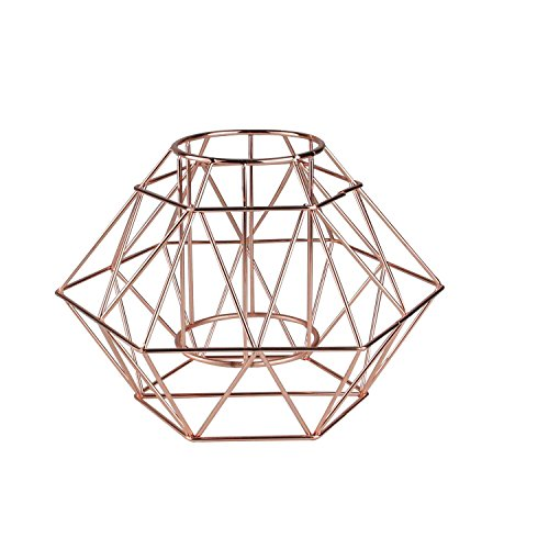 "10.25"" Luxurious Rose Gold Colored Diamond Geometric Angled Wine Bottle (Luxurious Eye)"