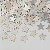 Party Central Club Pack of 12 Metallic Shiny Silver Star Celebration Confetti Bags 0.5 oz.