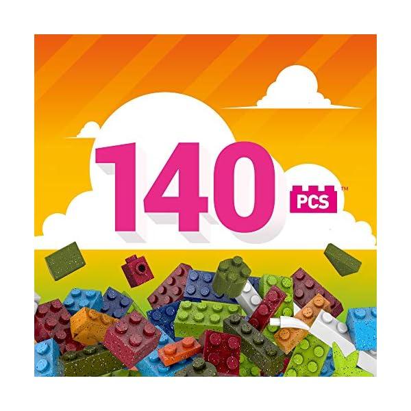 Mega Construx Wonder Builder 140 pcs Building Tube, Building Toys for Kids (70 Pieces)