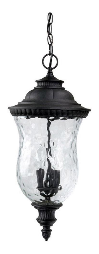 Black Ashford 3 Light Outdoor Pendant by Capital