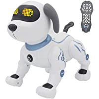 fisca Remote Control Dog, RC Robotic Stunt Puppy Toys Handstand Push-up Electronic Pets Dancing Programmable Robot with…