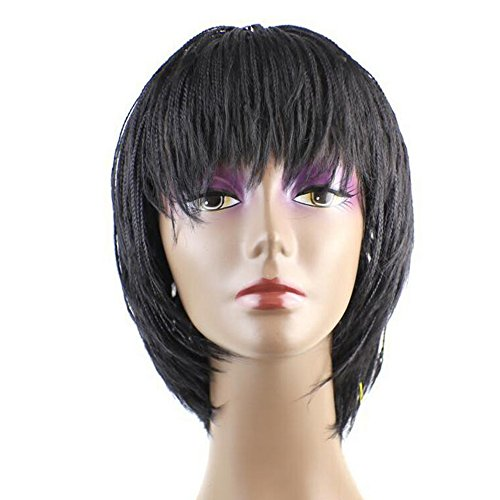 Aoert Short Bob Dreadlocks Wig with Bangs Heat Resistant Synthetic Wigs for Black Women 100% Hand Hook Hair Replacement Wigs 12