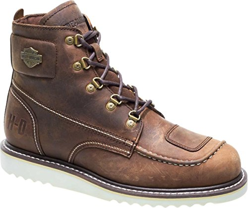 HARLEY-DAVIDSON Men's Hagerman Motorcycle Boot, Brown, 10.5 Medium US