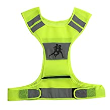 I-sport Reflective Vest for Running, Cycling, Jogging, Walking with 2 High Visibility Safety Bands