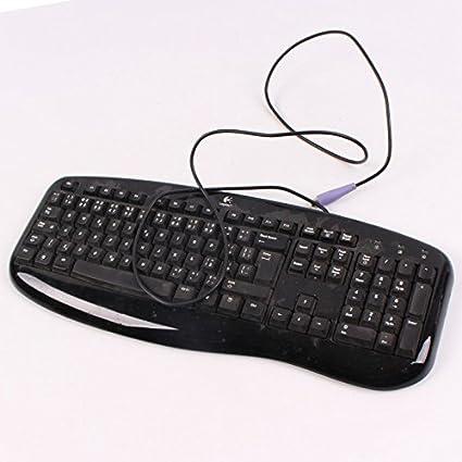 Logitech teclado AZERTY negro PS/2 y-sm48 867674 – 0101 PC Keyboard 110