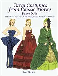 CLASSIC DRAMA QUEENS Paper Doll Book--6 Hollywood Stars /& 33 Movie Costumes!