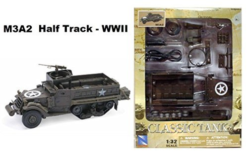 Half Track Tank - M3 Personnel Carrier Half-track 1/32 Scale Plastic Model (Kit, assembly required)