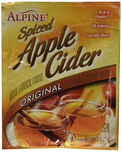 Alpine Spiced Cider Original Apple Flavor Drink Mix , 60 Packets of - Apple Hot Spiced