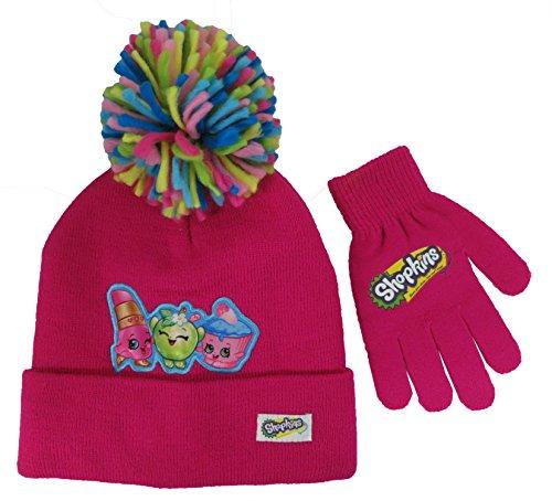Shopkins Girls Hot Pink Hat and Gloves Set [4012]