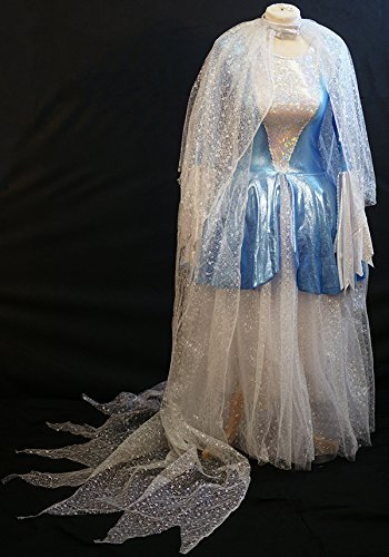 [World Book Day-Cinderella-Panto-Ice Princess DELUXE SNOW QUEEN Child's Fancy Dress Costume - All Ages (AGE] (Panto Costumes For Kids)