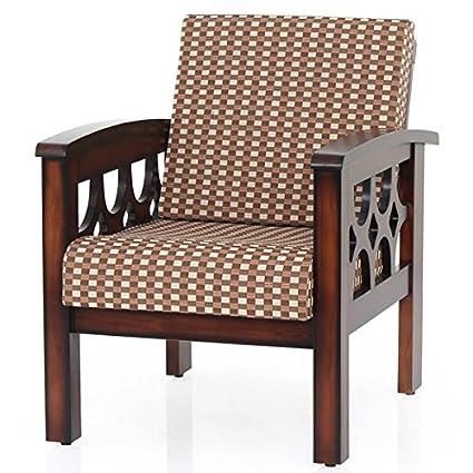JFA Paolina Solidwood Wooden Single Seater Sofa