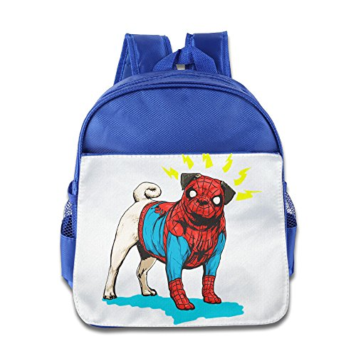 Logon 8 Spider Cute Dog Cool Backpacks RoyalBlue For 3-6 Years Olds Baby (Different Spiderman Costumes)