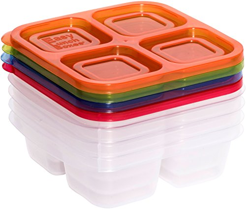 EasyLunchboxes 4-Compartment Snack Box Food Containers, Set of 4, Classic by EasyLunchboxes (Image #2)