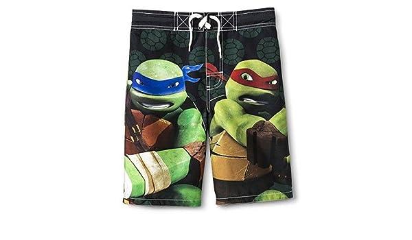 2b9b6ea05af22 Amazon.com: TMNT Teenage Mutant Ninja Turtles Boys' Swimwear Board Shorts  Swim Trunks: Clothing