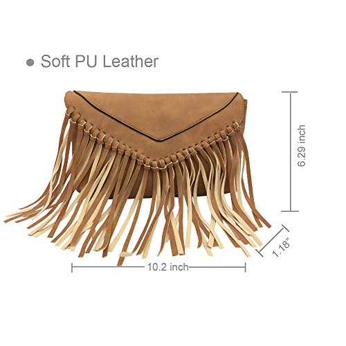 Wallet Travel PU Handbag Derkia Lightweight Purse Shoulder Tote Messenger Pouch Organiser Bag Bag Handbag Crossbody Apricot Ladies Satchel Tassel Hobo La 4xTaw6T