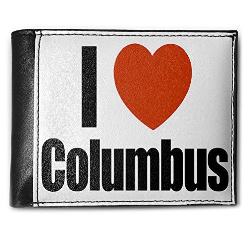 Wallet I Love Columbus region: Ohio, United States Men's Bifold ID Case - Neonblond Ohio Bi Fold Wallet