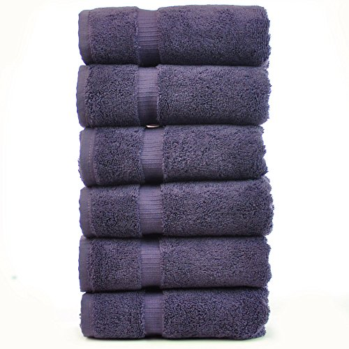 Chakir Turkish Linens Turkish Cotton Luxury Hotel & Spa Bath Towel, Hand Towel - Set of 6, Plum