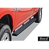 "iBoard Running Boards 4"" Matte Black Custom Fit 2009-2018 Ram 1500 Crew Cab Pickup 4Dr & 2010-2018 Ram 2500/3500 (Nerf Bars | Side Steps | Side Bars)"