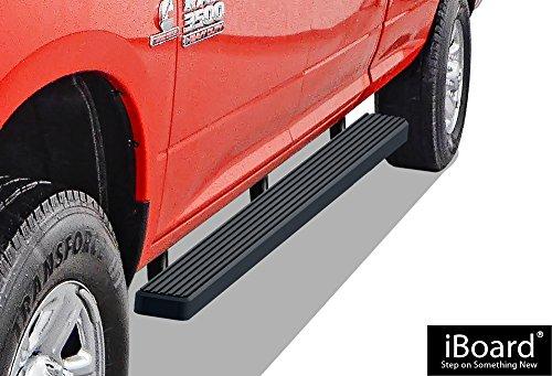 "APS iBoard Running Boards 4"" Matte Black Custom Fit 2009-2018 Ram 1500 Crew Cab Pickup 4Dr (Incl. 2019 Ram 1500 Classic)& 2010-2019 Ram 2500/3500 (Nerf Bars | Side Steps | Side Bars)"