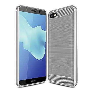 GeeMai Coque Huawei Y5 2018, Ultra Mince Silicone Cas Solide, Durable, Anti-Chute, antidé rapant Cas Souple TPU Cas Mobile Té lé phone Case pour Huawei Y5 2018 Smartphone(Bleu)