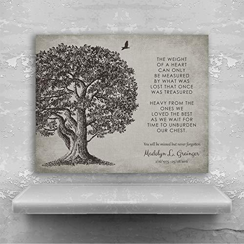 Memorial Plaque In Loving Memory Poem Oak Tree Sympathy Gift For Family Custom Art Print #1328 Metal Print ()