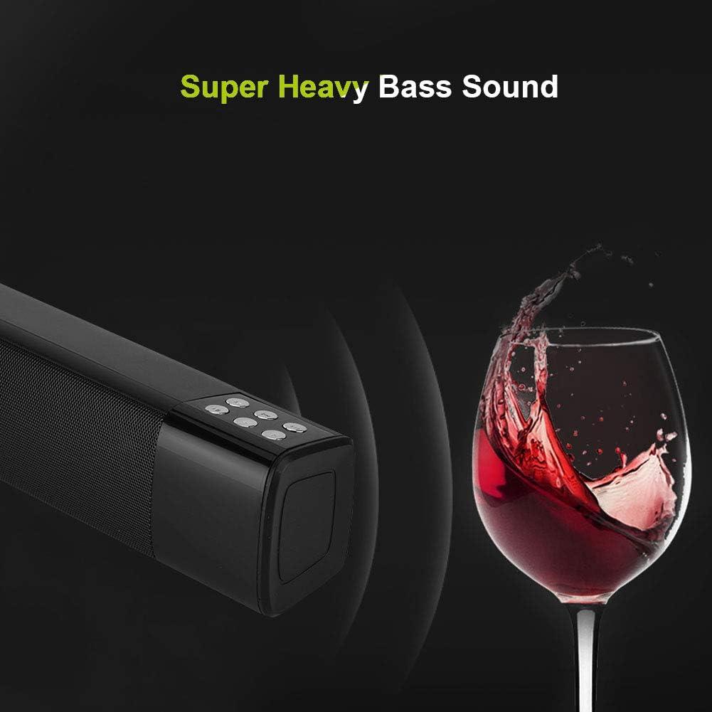 LED Super Heavy Bass Music Noise Cancelling Sound Home Theatre Soundbar TV Wireless Speaker for Phone Tablet PC Notebook Computer Bluetooth Soundbar