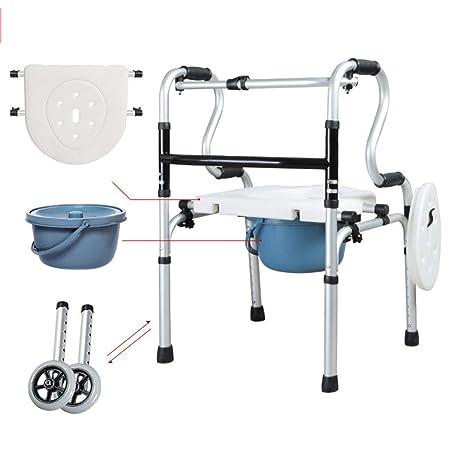 Xinjin Andador Plegable Aluminio Walker Marco para Caminar ...