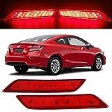 HUSUKU LED Bumper Reflector Red Lens Rear Brake