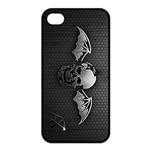 Custom Your Own Unique Rock Band Avenged Sevenfold A7X M Shadows Silicon Iphone 4/4S Snap on A7X Iphone 4/4S
