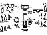 nissan murano decal - Rdash Dash Kit Decal Trim for Nissan Murano 2003-2008 - Carbon Fiber 4D (Black)