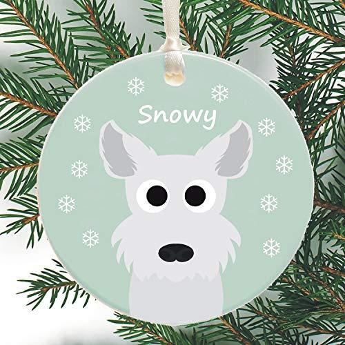 Georgia Barnard Dog Personalised Christmas Tree Decoration West Highland Terrier (Westie), Chihuahua, Yorkshire Terrier (Yorkie), Poodle, Pug, Xmas Bauble, Keepsake Gift 3