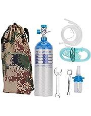 Cosiki Kit de Cilindro de oxígeno portátil de 2L, Botella de Cilindro de Tanque de oxígeno Profesional con Mochila para el hogar al Aire Libre(2L)