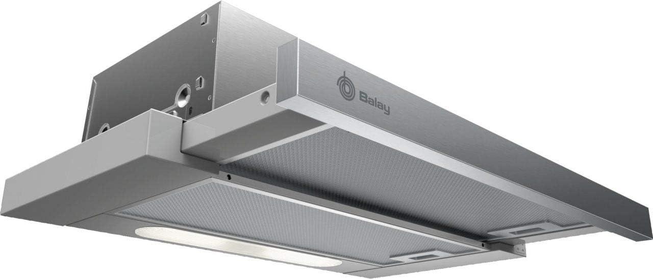 Balay 3BT263MX - Campana (360 m³/h, Canalizado/Recirculación, E, D, D, 68 dB)