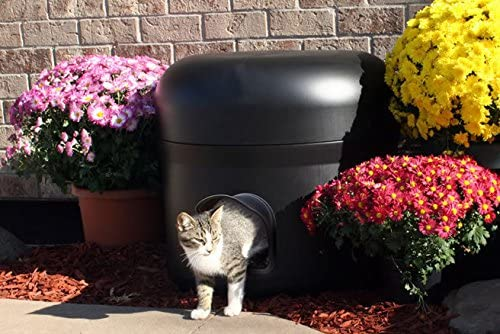 The Kitty Tube Insulated Outdoor Cat House with Custom Pet Pillow and Low Voltage Pet Heating Pad
