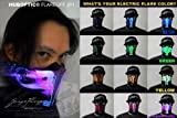 Dj LED Light up Mask/ Futuristic Mask – Huboptic Flareoff Jp1 Mask /Purple Original Mask Color or Upon Request (Choose Your Light up Color) for Cyborg Cybernetic Glow Mask LED Light Show Mask Dj Party Masquerade Carvinal Carnaval Festival Edm Concert Electronic Dance Music Style Light Outfit Skull Costume Helmet Laser Lightshow Ultra Rave Stage Costume Sound Reactive Mask Picture