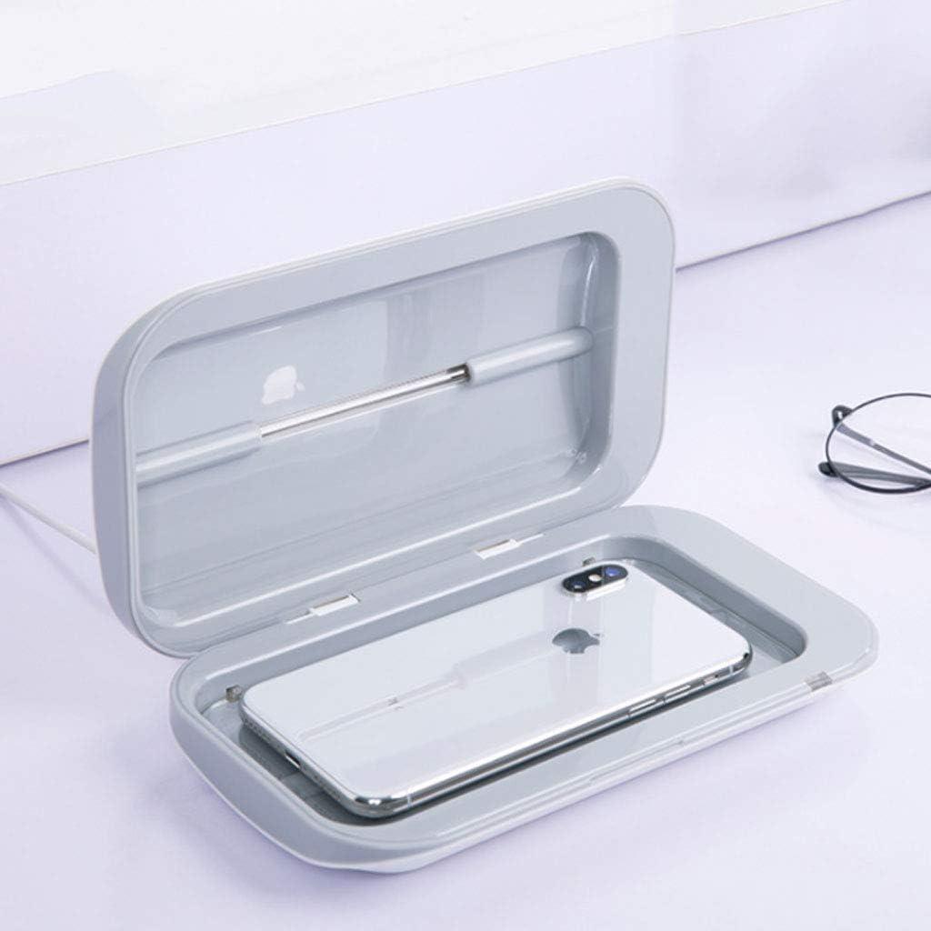 Handy-Ladeger/ät Bluetooth-Kopfh/örer f/ür die meisten Handys Zahnb/ürste UV-Sterilisatoren UV-Sterilisator-Telefon-Sterilisator-Smartphone-Desinfektionsmittel-Handyreiniger Wei/ß