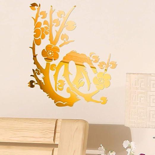 YWLINK 3D DIY Forma De Flor De AcríLico Etiqueta De La Pared ...