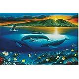 "Wyland Galleries Maui Dawn Matted Fine Art Print 8x10 Matted - Print size 5""x7"""