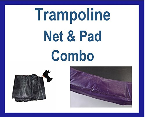 Net And Pad Combo For 14Ft Frames with 6 Pole Top Ring En...