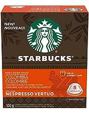 Starbucks by Nespresso Single Origin Columbia Coffee Pods, Medium Roast, Nespresso Vertuo Line Compatible Capsules, 4 X 8 Coffee Pods, 32 Count