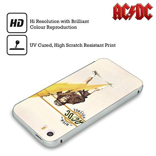 Officiel AC/DC ACDC Haute Tension Couverture D'album Argent Étui Coque Aluminium Bumper Slider pour Apple iPhone 5 / 5s / SE