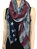 vintage american flag scarf - LRRH Vintage Faded American Flag Scarf/Red White & Blue Scarf / 4th of July Scarf/Vintage Scarf/Team USA/American Flag/Gift for Her