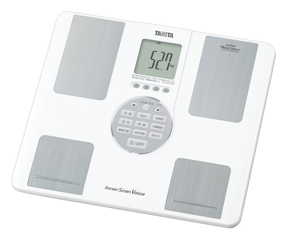 BC-202-WH White Inner Voice scan Tanita body composition monitor