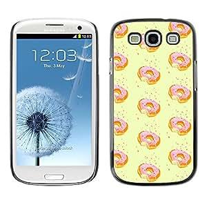 Be Good Phone Accessory // Dura Cáscara cubierta Protectora Caso Carcasa Funda de Protección para Samsung Galaxy S3 I9300 // doughnut yellow pink sprinkle sweet